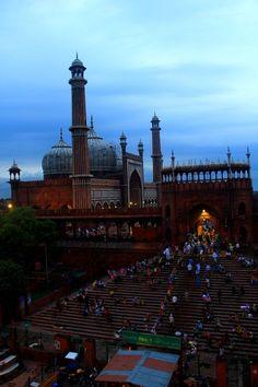 Jama Masjid seen from a rooftop from Darya Ganj