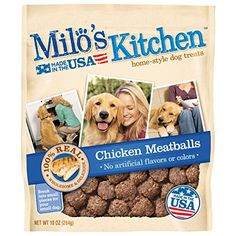 Dog Jerky Treats - Milos Kitchen Chicken Meatballs Dog Treats 10 oz >>> Be sure to check out this awesome product. (This is an Amazon affiliate link)
