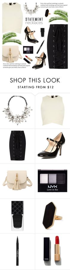 """""""Look 1 ( 08 / 19 / 2016 )"""" by aneetaalex on Polyvore featuring John Lewis, River Island, Exclusive for Intermix, Dorothy Perkins, NYX, Gucci, Jaeger, Trish McEvoy and Chanel"""