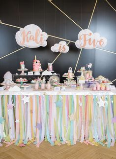 This Geometric Unicorn Birthday Party Is Totally Magical Confetti Bows Styled It To Be