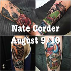 Nate Corder is back in town next week! Come get something awesome while you can!  Check out his portfolio at @natecordertattoo @natecordertattoo @natecordertattoo