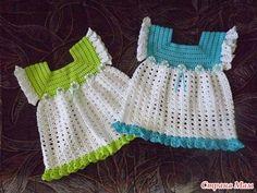 FREE PATTERN...Crochet patterns: Crochet Pretty Summer Dress for Pretty Little Girls