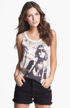 Mary Jane Print Tank (Juniors) (Online Only) | Nordstrom