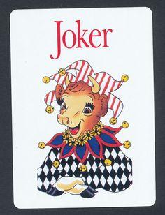 Elsie cow Borden playing card single swap JOKER - 1 card