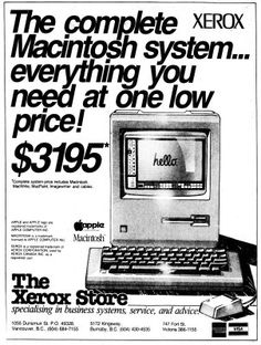 Apple Macintosh I. 1984. Only $3195!