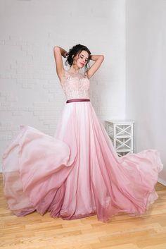 Blush wedding dress wedding dress with Bustier Bridal Corset