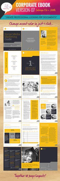 Corporate eBook Template #design Download: http://graphicriver.net/item/corporate-ebook-v07/12162819?ref=ksioks
