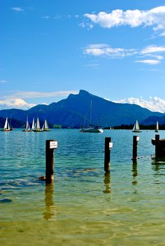 Mondsee, along the bicycle touring route through the Austrian Lakes Region.