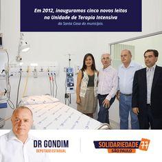 Em 2012, inauguramos cinco novos leitos na unidade de terapia intensiva #FichaLimpa #77000 #Saúde #DrGondim #votedrgondim77000