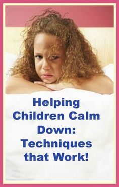 Helping children calm down ~ So important! (Free tips/ideas.) Repinned by SOS Inc. Resources pinterest.com/sostherapy/.