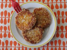 Sweet potato cakes. I'm going to try it with rice bread crumbs.  Fingers crossed!