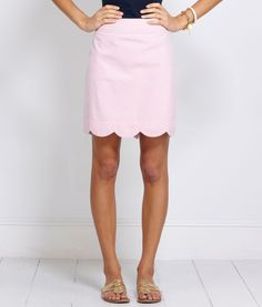 Seersucker Scallop Hem Margo Skirt - this would be easy to make using Colette's Meringue pattern & cotton seersucker