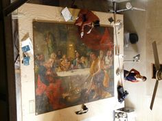 A major art restoration work of a 220 year old painting, The Last Supper by Zoffany is being carried out at St. John's Church by Intach's Art Conservation Centre, Calcutta in collaboration with the Goethe Institut. This project will not only restore the painting but will considerably improve the skills of the restorers at the centre.