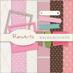 Scrap. DOT: Freebies Romantik Backgrounds Kit
