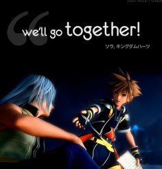 riku and sora gif