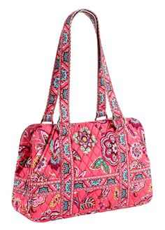 "Squared Away Vera Bradley ""Call Me Coral"". My first ever vera bradley purchase. The start of my big obsession."