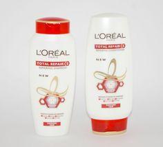 loreal total repair 5 shampoo  & conditioner