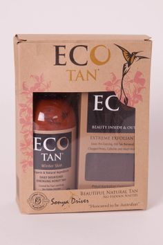 Great Eco Girl Gift Ideas ECO Tan - Organic Winter Skin & Exfoliant Gift Pack available at www.onlynaturalorganics.com.au