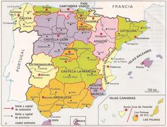 Mapa administrativo de España