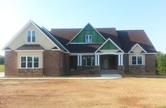 Our Travis plan #1350 has been highly popular! Here is a preview of the home in progress and keep an eye out for completed photography. http://www.dongardner.com/house-plan/1350/the-travis. #Progress #Home #Exterior