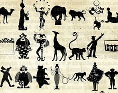 vintage circus silhouette