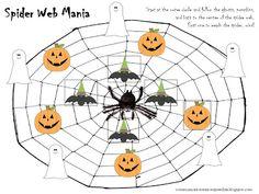 FREEBIE Friday: Spider Web Mania Board Game!   Communication Station:Communication Station: