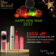 Win over your beauty concerns with the great line of Blue Heaven Cosmetics.  Set your hands on our wide range and shades of eyeliners, mascaras, foundations, lip colours, blushers, nail paints etc. to stun others with your look this on #NewYear Eve.  #fashion #fashionblogger #fashionblog #style #blogger #perfect #diy #love #fashionstyle #hair #haircut #hairstylist #lips #nails #beauty #makeup #lovely #beautiful #likeforlike #follower #followforfollow #makeupartistworldwide #makeupvideos #m
