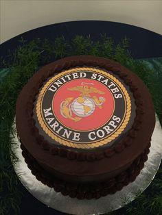 Groomsmen Marine Corps cake