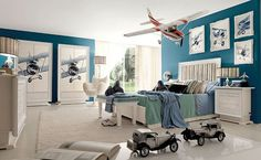 Toddler boy room ideas to apply can be those that are interesting and exciting kids bedroom ideas for boys. Find out toddler boy room design, tips here Boys Bedroom Themes, Kids Bedroom, Bedroom Ideas, Boy Rooms, Bedroom Designs, Bedroom Inspiration, Boys Airplane Bedroom, Preteen Boys Bedroom, Travel Bedroom