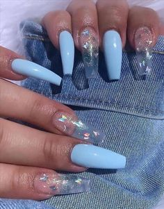 Light Pink Acrylic Nails, French Tip Acrylic Nails, Short Square Acrylic Nails, Acrylic Nails Coffin Short, Summer Acrylic Nails, French Nails, Acrylic Nail Designs, Clear Nail Designs, Coffin Nails