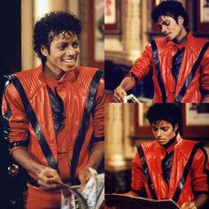 (3) Twitter Paris Jackson, Prince, Michael Jackson Thriller, Mere Mortals, Dads, Leather Jacket, Cinnamon Rolls, Action, King