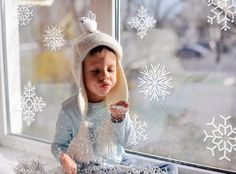 Holiday Collection Vinyl Wall Decals- 12 Snowflake Wall Graphics, Wallpaper, Stickers, Christmas, item 60001