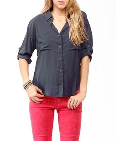 Button Up Pocket Blouse $19  http://www.forever21.com/Product/Product.aspx?BR=f21=Promo_Tops_30-off=2019571606=042