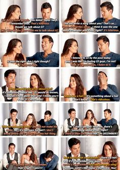 Lea Michele, Taylor Lautner and John Stamos talk about Taylor Swift and 'Back to December'