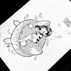 Inktober Day 30 #drawing #inktober2018 #totoro #rototo #illustration #ink #inking #sketch #draw #artwork #dorothygranjo Totoro, Ink Art, Inktober, Drawings, Illustration, Artwork, Cards, Sketch, Ideas