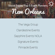 Our picks for best event planners in New Orleans!