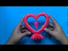 Origami 3D Corazon - YouTube