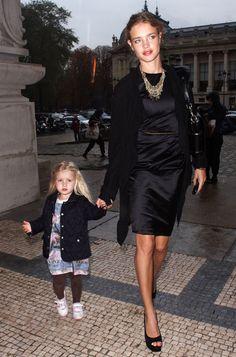 Natalia Vodianova and daughter.