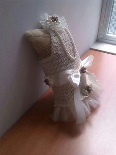 dog crochet abito da cerimonia fatto a mano da Elga