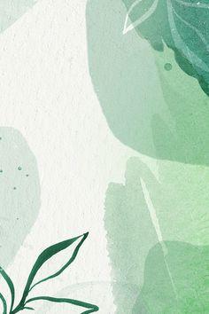 Download premium illustration of Green watercolor Memphis patterned