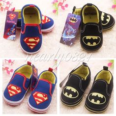 SZ 3-12 Months Cute Superman Batman Baby Boy Infant Crib Shoes Soft Sole Slip-on in Clothing, Shoes & Accessories, Baby & Toddler Clothing, Baby Shoes | eBay
