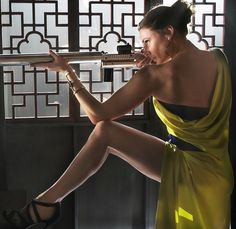 Rebecca Ferguson in MISSION: IMPOSSIBLE - ROGUE NATION. Read our review: http://www.thereelword.net/mission-impossible-rogue-nation-review/
