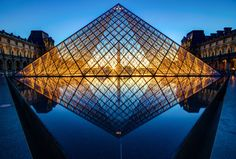 Architect I. Here is arguably his most famous work, the Pyramid at the Louvre. Monuments, Louvre Pyramid, Best All Inclusive Resorts, National Gallery Of Art, Mona Lisa, Beautiful Pictures, Beautiful Places, France, Paris France