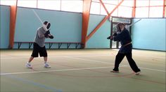 Longsword play 27 German longsword sparring at the club