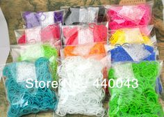 Free shipping 2 packs/lot Hot sell Rainbow Loom Rubber Band Refills Twistz Bandz (1200bands+ 48 C/S-Clips/lot) Christmas gift $5.90