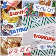 5 secrets to eating an energizing breakfast when you're working full-time