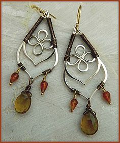 Go international with these striking earrings. Make them yourself with supplies from http://www.ninadesigns.com/jewelry_design_ideas/teardrop_link_earrings.html