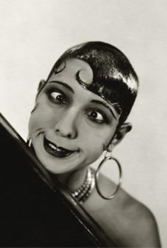 """Josephine Baker, 1934 cross-eyed funny expression #funnyface """"Beautiful? It's all a question of luck. I was born with good legs. As for the rest... beautiful, no. Amusing, yes."""" -JB #funnyface #vintagephoto http://cmgww.com/stars/baker/about/quotes.html"""