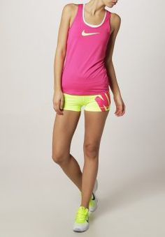 """Nike Performance - PRO 3"""" - Tights - volt/hot pink #sportmode #nike"""