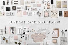 Custom Branding Creator- 100+ Items by Design Love Shop on @creativemarket